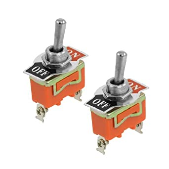 DealMux AC 250V 15A SPST 2 Posição On / OFF Toggle Switch 2 Pcs
