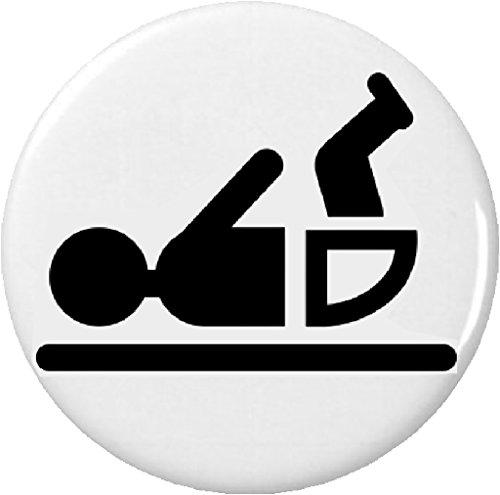 """Baby Changing Symbol 2.25"""" Large Pinback Button Pin Diaper black & white"""
