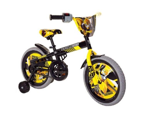 Price comparison product image Transformers Boy's 16-Inch Bumble Bee Bike, Black/Yellow/Grey