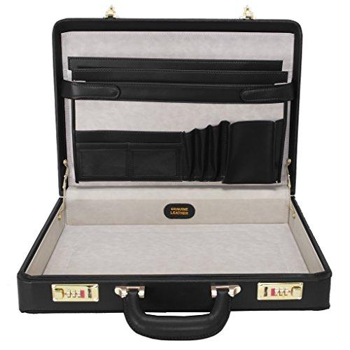 McKleinUSA REAGAN 80445 Black Leather Attache Case by McKleinUSA (Image #1)