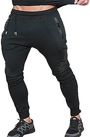 LANGCHEN Men's Workout Jogger Pants Gym Bodybuilding Running Trousers Poc