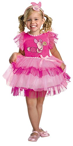 Girls Frilly Piglet Winnie Pooh Kids Child Fancy Dress Party Halloween Costume, (Winnie The Pooh And Piglet Costumes)