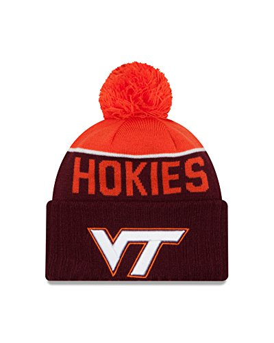 Virginia Tech Hokies Cap (NCAA Virginia Tech Hokies Ne 15 Sport Cuff Knit Beanie, Maroon, One)