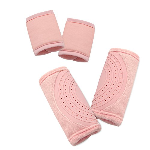 Travel Bug Baby 2 Piece Car Seat Strap Cover Teether Set, Light ()