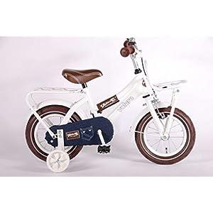 Vélo pour les enfants Urban Jeans 12 pouce avec roues arrières de stabilisation frein à rétropédalage âge 3 - 4 blanc et… 11