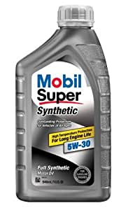 Mobil super 112914 5w 30 synthetic motor oil for Hd 30 motor oil