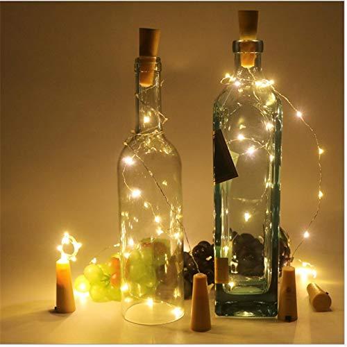 Garland Lights Christmas 2m 20 LED Bottle Stopper Copper Wire String Light for Craft Bottle christmas decorations for home string lights Garlands Lamp.w (Random)