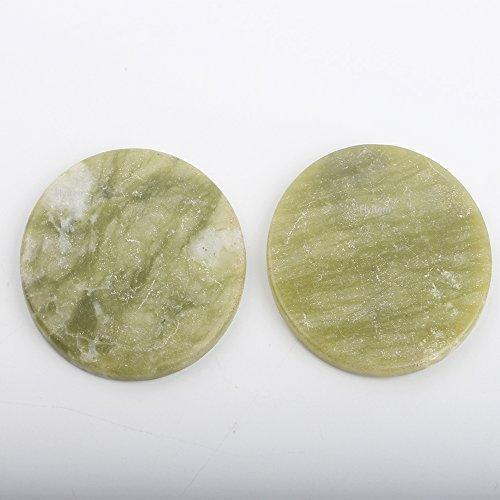 FlyItem 10 PCS Round Jade Stone Eyelash Extension Glue Adhesive Pallet Stand Holder Fake Eye lash Base Makeup Cosmetic Tool