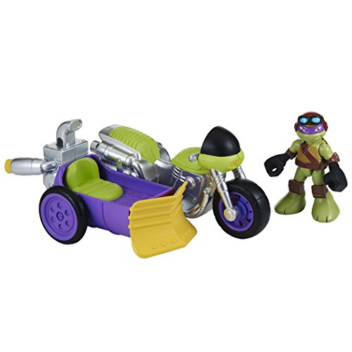 Teenage Mutant Ninja Turtles Pre-Cool Half Shell Heroes Motorcyle and Sidecar with Donatello Vehicle and Figure