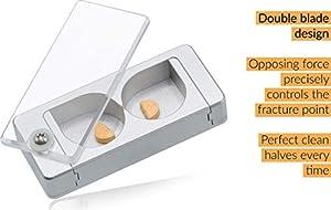 EqualSplit Pill Splitter, Double Blades, Aluminum (Tamaño: 1 Count (Pack of 1))