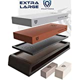 DALSTRONG - Premium Whetstones - Extra Large Grit Stones - Top-Grade Corundum - Thick - Ultra-Durable… (#1000/#6000 Grit Premium Whetstone Kit)