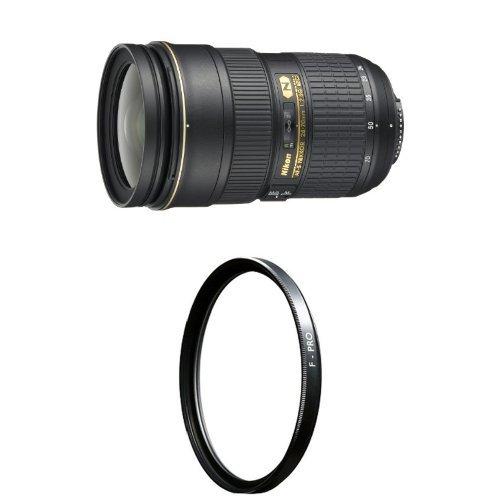 Nikon 24-70mm f/2.8G ED AF-S Nikkor Wide Angle Zoom Lens with B+W 77mm Clear UV Haze