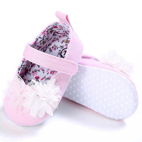 OverDose Baby Säugling Kinder Mädchen Segeltuch Weiche Sole Krippe Kleinkind Neugeborene Schuhe Rosa