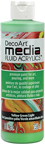Fluid Media - Deco Art Dmfa8-46 Media Fluid Acrylic Paint 8oz-Yellow Green Light