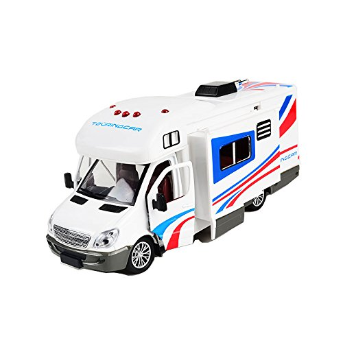 BOHS Holiday Motorhomes Morto Home Camper Van Model Diecast with Light and Sound, Pullback 21CM