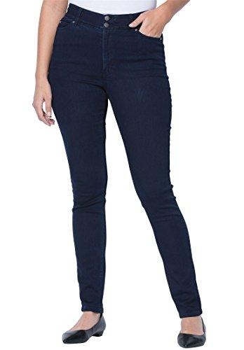 Jessica London Women's Plus Size Petite Tummy-Control Skinny Jeans - Indigo, 22 W