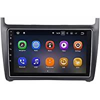 SYGAV Android 7.1.1 Car Stereo for 2012-2017 VW Polo 9 Inch Touch Screen Radio 2G Ram GPS Sat Navigation Head Unit Bluetooth FM/AM/RDS/WiFi/USB/SD/Mirrorlink