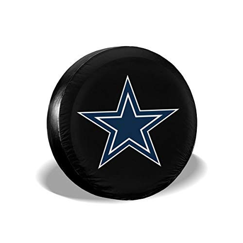 MamaTina Design Waterproof Tire Cover Dallas Cowboys American Football Team Unisex Spare Tire Cover for Jeep Trailer RV SUV and Many Vehicle ()