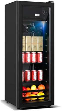 WANGLX 飲料冷蔵庫やクーラー - ワインセラー138L、LEDブルーライト、赤ワインキャビネット冷蔵庫ホームアイスバー、ルームアクセサリーマンショーのためのあなたのアイデンティティ