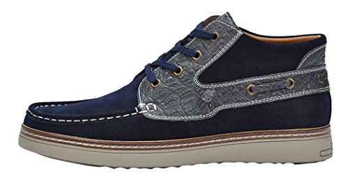 Serene Mens Breathable Suede Sneakers Shoes(9.5 D(M)US, Navy)