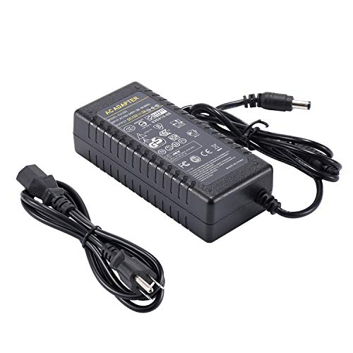 COOLM AC DC Adapter 100-240V to DC 12V 3A LED Power Supply US Plug 5.5x2.5 DC Jack for Security Monitoring System, LED Strips