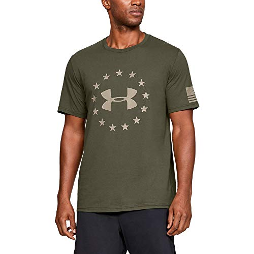 Green Blend Polyester - Under Armour UA Freedom Logo XL Marine OD Green
