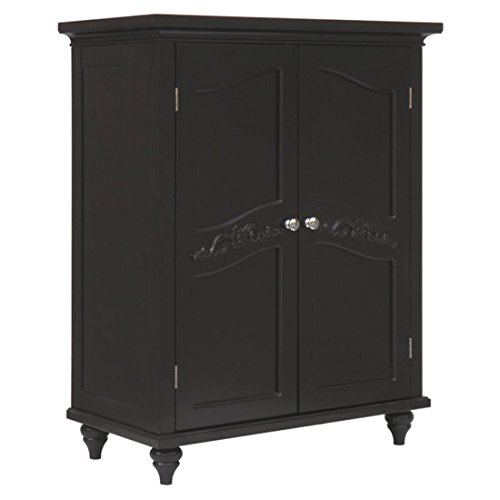 Dark Espresso 27'' x 34'' Free Standing Cabinet with Adjustable Inner Shelves by Elegant Home Fashions