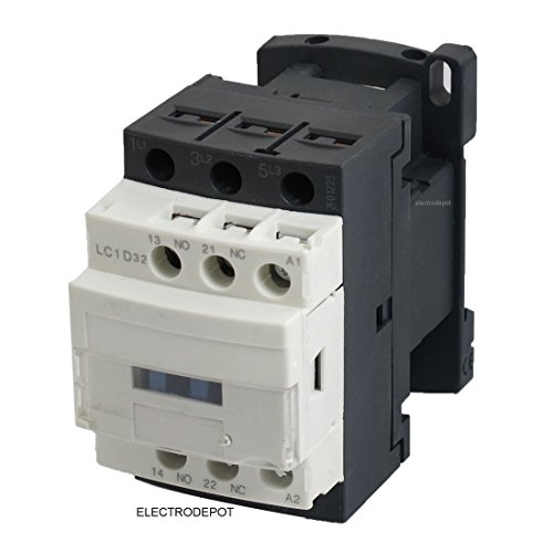 30A Contactor 3 Pole, 110/120V Coil, Motor load 32A, Lighting 40A, 50A, 600V IEC DIN