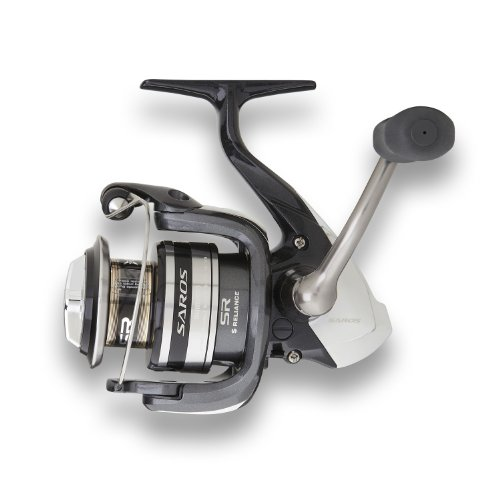 Shimano SAR3000FA Saros Spinning Fishing Reel, 6/230, 8/170, 10/140, Left/Right-Hand, Black Review