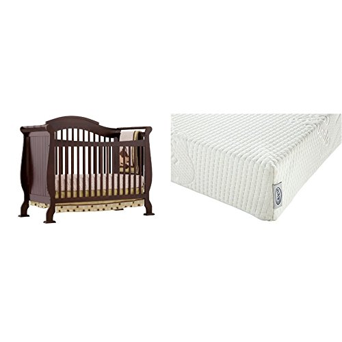 Natural Oak Daybed (Stork Craft Valentia Convertible Crib, Espresso with Graco Natural Organic Foam Crib and Toddler Mattress)