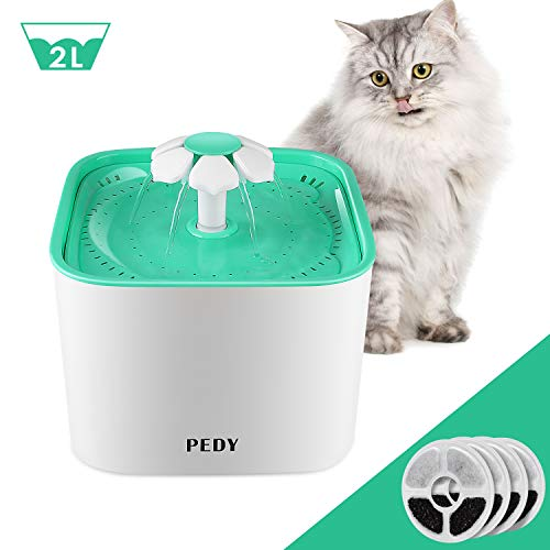 Pedy Cat Water Fountain, Automatic Cat Flower Water Fountain, Pet Water Fountain for Cats and Dogs...