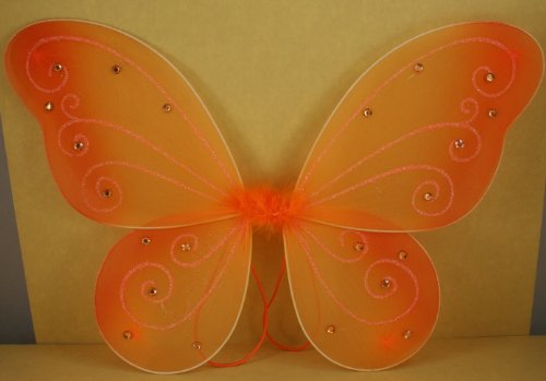 [Orange Butterfly Fairy Costume Wings 18