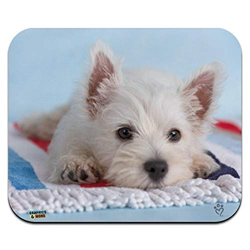 West Highland Terrier Westie Puppy Dog Beach Towel Low Profile Thin Mouse Pad Mousepad
