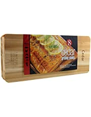 "Coastal Cuisine Large Cedar Grilling/Barbecue Planks Set of 8 (7"" X 16"")"