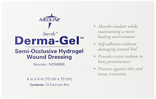 Medline Dressing Derma gel Hydrogel Wafer