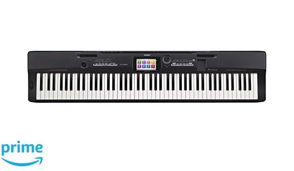 Casio PX-360MBK - Teclado MIDI (Botones, Tocar, Corriente alterna, Corriente alterna, LCD, USB): Amazon.es: Instrumentos musicales
