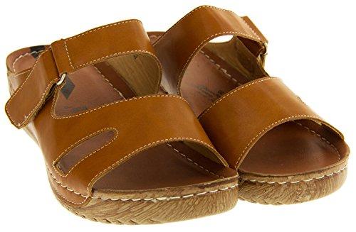 size Brown Shoes Opedoed Sandalo con 4 Women For Heeled zeppa Summer 8qTZwxHaq