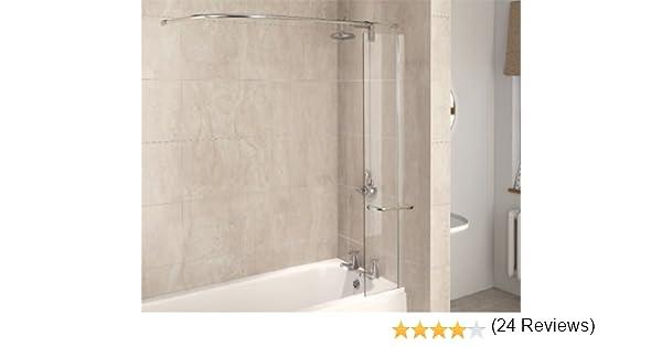 Aqualux 1160078 - Mampara de ducha (tamaño: 1500x300mm): Amazon.es: Bricolaje y herramientas