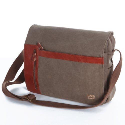 Handbag Queen UK - Sacoche unisexe toile messager Troop London 2 fermetures