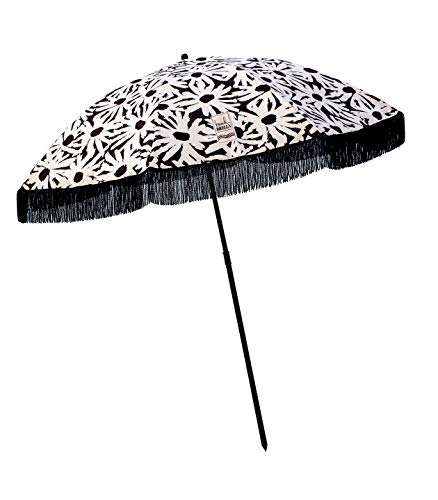 Beach Umbrella, Laguna with Fringe, Designed by Beach Brella – 100% UV Sun Protection, Lightweight, Portable & easy to setup in the Sand and secure in the Wind
