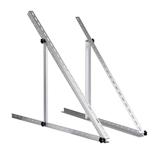 (ECO LLC Adjustable Solar Panel Mount Mounting Brackets Folding Tilt Legs Ideal for Boat, RV, Roof Off Grid Solar Panel Installation(41-inch Length))