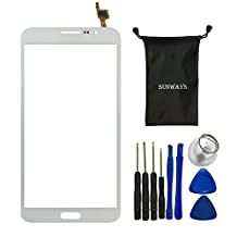 Sunways Touch Digitizer Screen Replacement For Samsung Galaxy Mega 2 SM-G750 G750F G750A G750H With device opening tools(White)