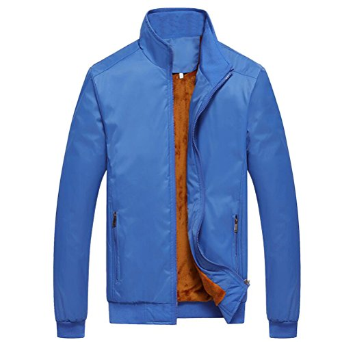 Coats Mens Collar Zhuhaitf Blue Velvet Winter Outerwear Jackets Plus Stand Thicken Warm 5ta5Iqw