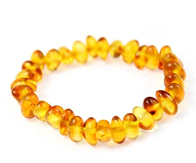 100% Genuine Baltic Baroque Amber Anklet/Bracelet Knotted from UK Dristriibutor 11-23CM