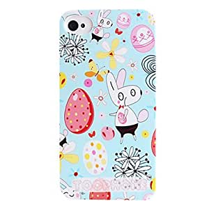 QHYMice And The Egg Pattern ABS Back Case for iPhone 4/4S(Assorted Color) , Purple