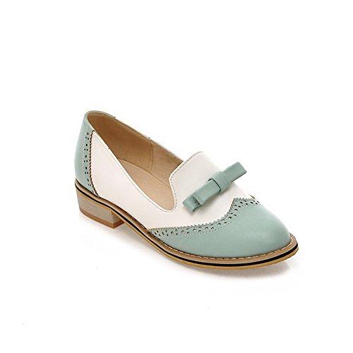 couleurs tirer Pompes Chaussures talons balamasa assorties Bleu sur bas pour xXqWWHTS