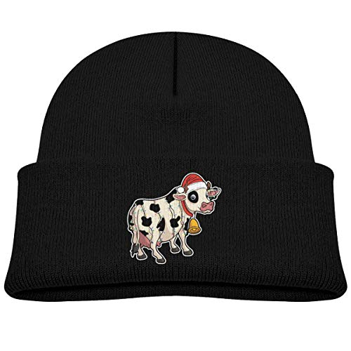(Christmas Cow Bells Beanie Caps Knit Hats)