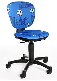 Topstar 616208 silla escritorio para niños MAXX KID tejido azul motivo fútbol