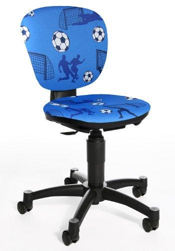 Topstar 616208 silla escritorio para ninos MAXX KID tejido azul motivo fut