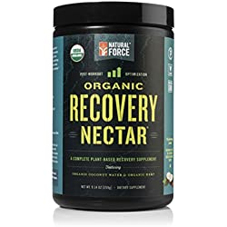 Organic Post Workout Recovery Nectar – *Reduce Muscle Soreness* – Best After Workout Recovery Drink for Men and Women, Vegan Superfood Supplement Blend by Natural Force, 9.14 Ounce